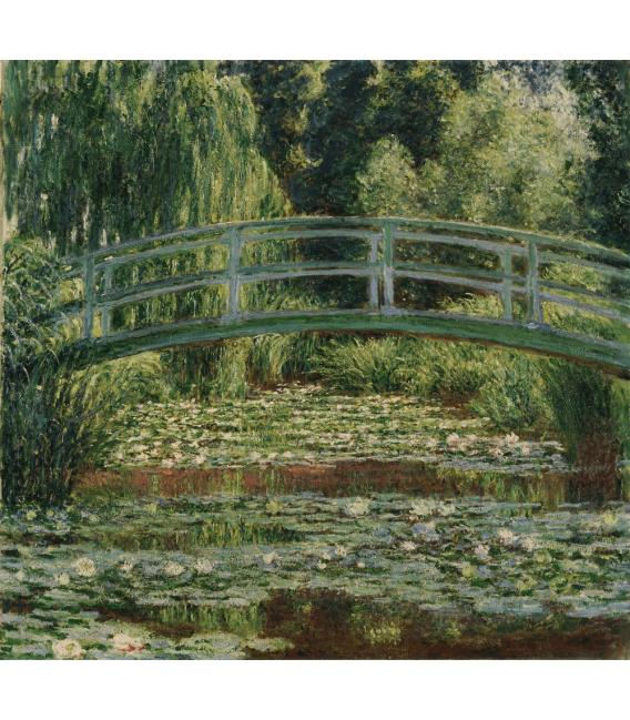 Stampa su tela: Claude Monet - Nymphéas , Ponte pedonale giapponese e la piscina di ninfee, Giverny