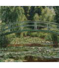 Claude Monet - Nymphéas , Ponte pedonale giapponese e la piscina di ninfee, Giverny. Stampa su tela