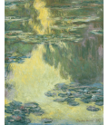 Claude Monet - Waterlilies 10. Printing on canvas