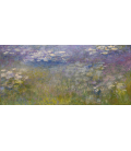Claude Monet - Waterlilies 4. Printing on canvas