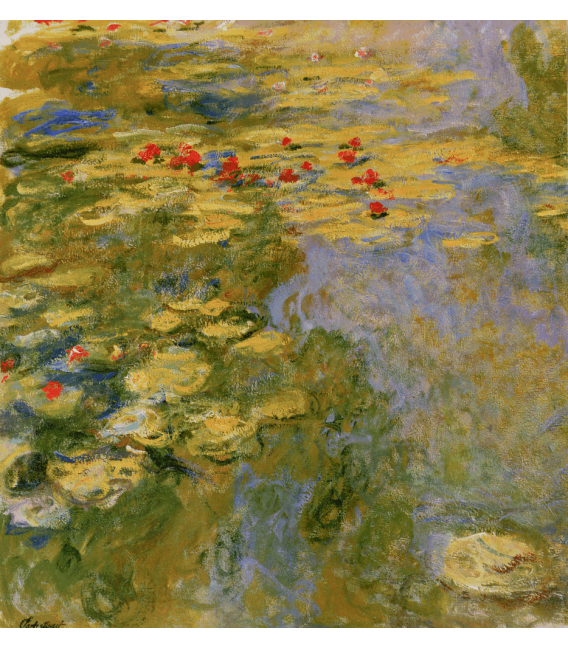 Printing on canvas: Claude Monet - Waterlilies 5