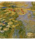 Claude Monet - Nymphéas 5. Stampa su tela