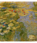 Claude Monet - Waterlilies 5. Printing on canvas
