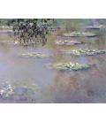 Claude Monet - Nymphéas 6. Stampa su tela