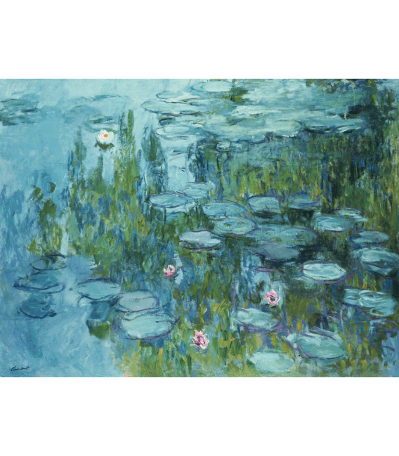 Printing on canvas: Claude Monet - Waterlilies 7