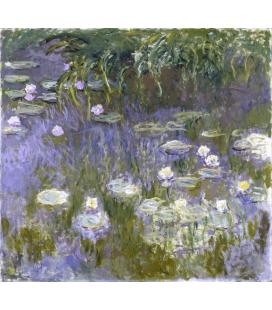 Stampa su tela: Claude Monet - Nymphéas 9