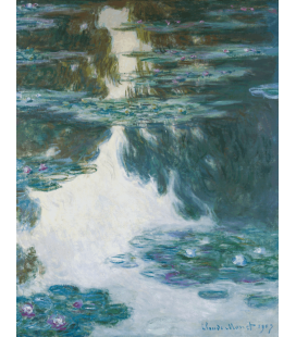 Claude Monet - Waterlilies, 1907. Printing on canvas