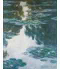 Claude Monet - Nymphéas, 1907. Stampa su tela