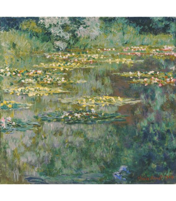 Stampa su tela: Claude Monet - Nymphéas, il bacino delle ninfee