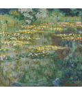 Claude Monet - Waterlilies, The pool of waterlilies. Printing on canvas