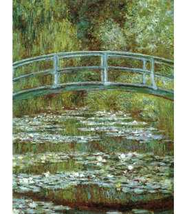 Claude Monet - Waterlilies, The Pond of waterlilies 1899. Printing on canvas