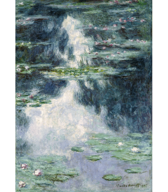 Stampa su tela: Claude Monet - Nymphéas, Lo Stagno delle Ninfee 2