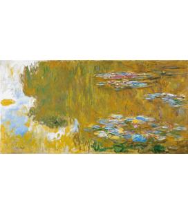 Claude Monet - Nymphéas, Lo Stagno delle Ninfee. Stampa su tela