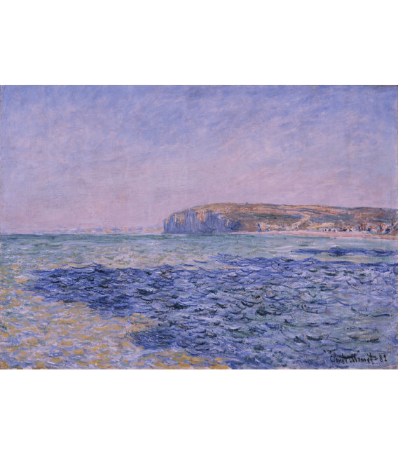 Printing on canvas: Claude Monet - Shadows on the Sea. The Cliffs at Pourville