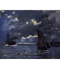 Claude Monet - A Seascape, Shipping by Moonlight. Printing on canvas