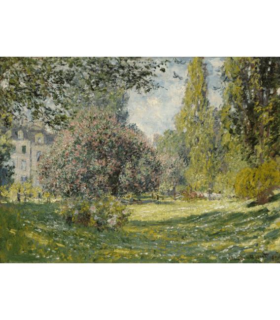 Stampa su tela: Claude Monet - Paesaggio, The Parc Monceau