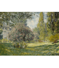 Printing on canvas: Claude Monet - Landscape