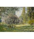 Claude Monet - Paesaggio, The Parc Monceau. Stampa su tela