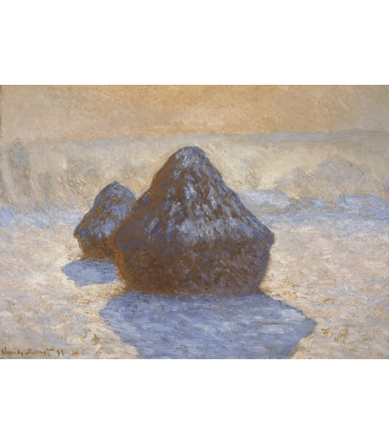 Printing on canvas: Claude Monet - Haystacks