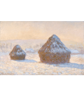 Claude Monet - Haystacks, effect snow in the morning. Printing on canvas