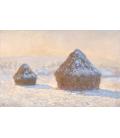 Claude Monet - Pagliai, effetto neve al mattino. Stampa su tela