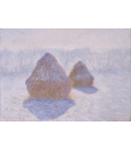 Claude Monet - Pagliai, effetto neve e sole. Stampa su tela