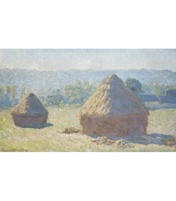 Stampa su tela: Claude Monet - Pagliai, fine d'estate