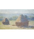 Claude Monet - Haystacks, late summer. Printing on canvas