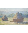 Claude Monet - Pagliai, fine d'estate. Stampa su tela