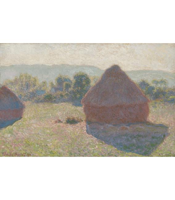 Printing on canvas: Claude Monet - Haystacks
