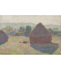 Claude Monet - Haystacks, midday. Printing on canvas