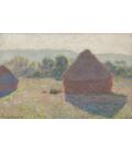 Claude Monet - Pagliai, metà giornata. Stampa su tela