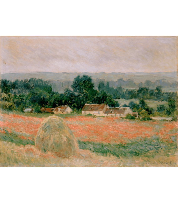 Printing on canvas: Claude Monet - Haystack at Giverny