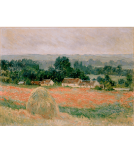 Stampa su tela: Claude Monet - Pagliaio a Giverny