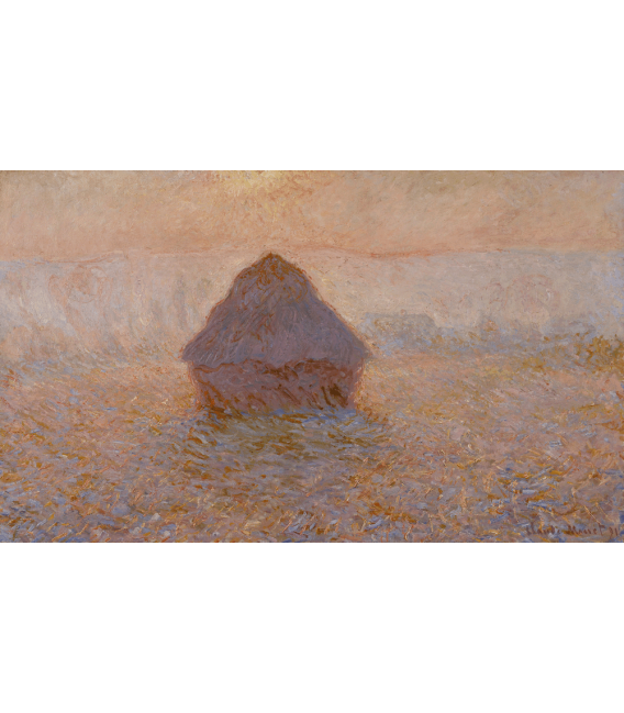Printing on canvas: Claude Monet - Haystack