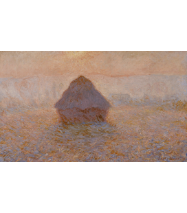 Printing on canvas: Claude Monet - Haystack