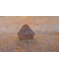 Claude Monet - Haystack, sun in the fog. Printing on canvas