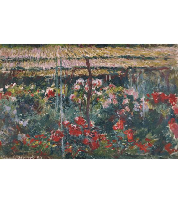 Stampa su tela: Claude Monet - Peony Garden
