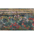 Claude Monet - Peony Garden. Printing on canvas