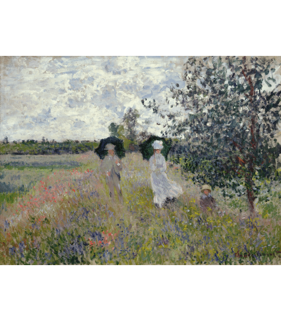 Printing on canvas: Claude Monet - Walk in the Meadows at Argenteuil