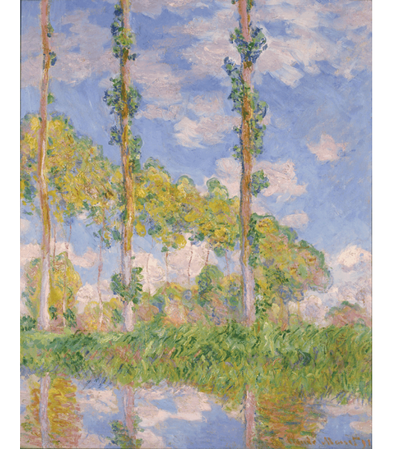 Printing on canvas: Claude Monet - Poplars in the Sun
