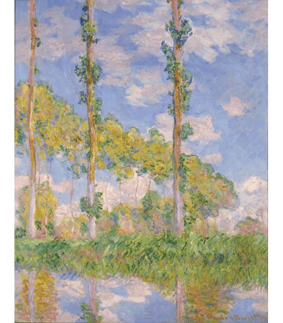Stampa su tela: Claude Monet - Pioppi nel sole