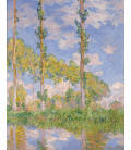 Claude Monet - Poplars in the Sun. Printing on canvas