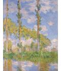 Claude Monet - Pioppi nel sole. Stampa su tela