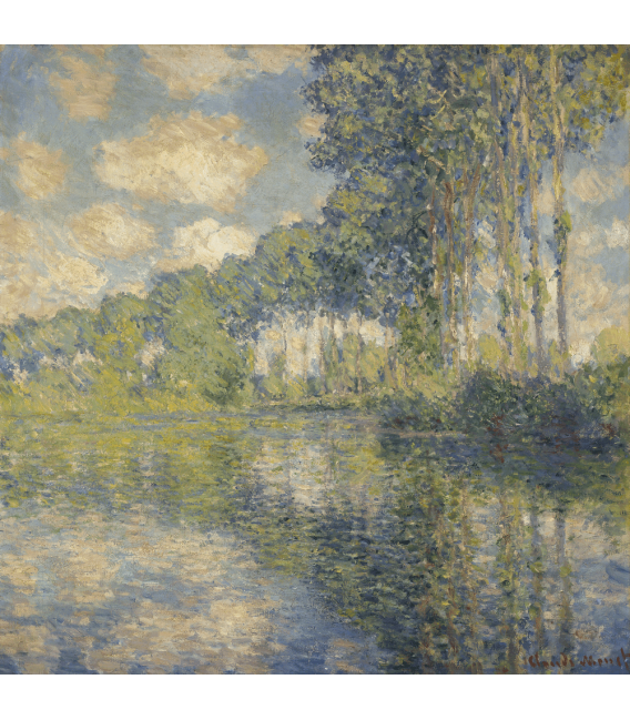 Printing on canvas: Claude Monet - Poplars on the Epte