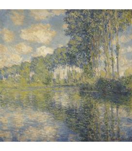 Stampa su tela: Claude Monet - Pioppi sull'Epte