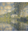 Claude Monet - Poplars on the Epte. Printing on canvas