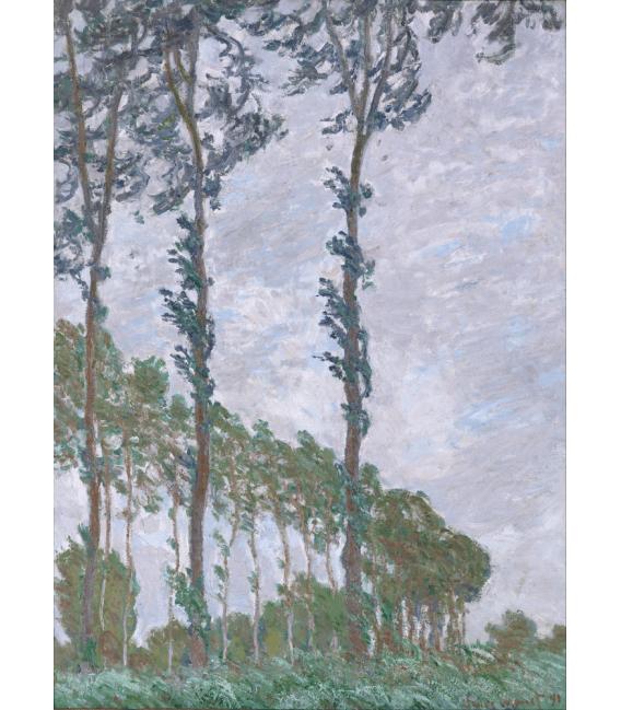 Stampa su tela: Claude Monet - Pioppi, effetto vento