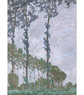 Printing on canvas: Claude Monet - Poplars