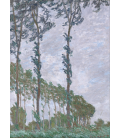 Claude Monet - Poplars, wind effect. Printing on canvas